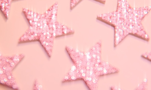Glanzende glitter roze wazig sterren gloed achtergrond licht sprankelende textuur