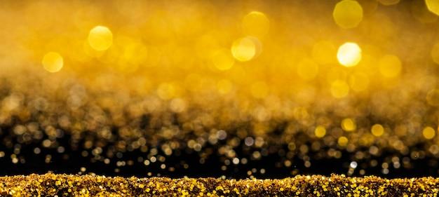 Glanzende gouden glitter