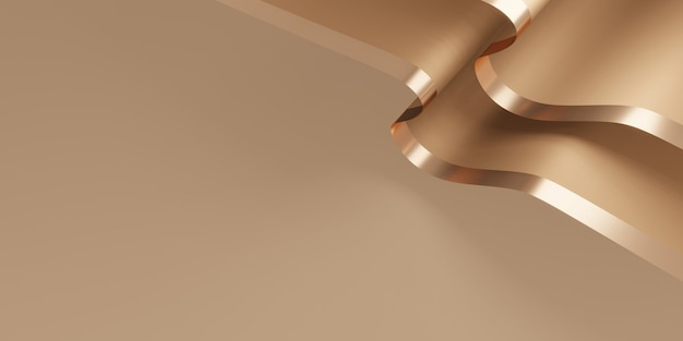 Glanzende lintachtergrond flutter voor decoratie 3d illustratie
