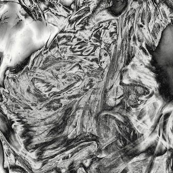Glanzende zilveren achtergrond van de metaal vloeibare textuur