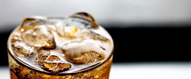 Glas frisdrank-cola