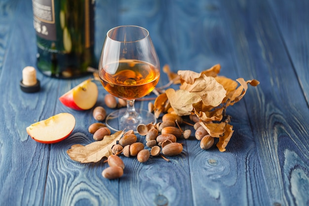 Glas gerijpte whiskey aged in eiken vaten