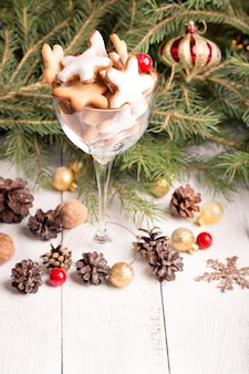 Glas kerstkoekjes