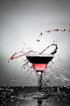 Glas met champagne