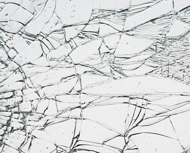 Glas met scheuren. gebroken raamtextuur.