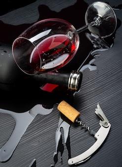 Glas rode wijn cabernet sauvignon