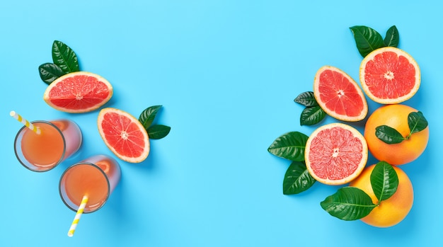 Glas vers grapefruitsap van hoogste mening