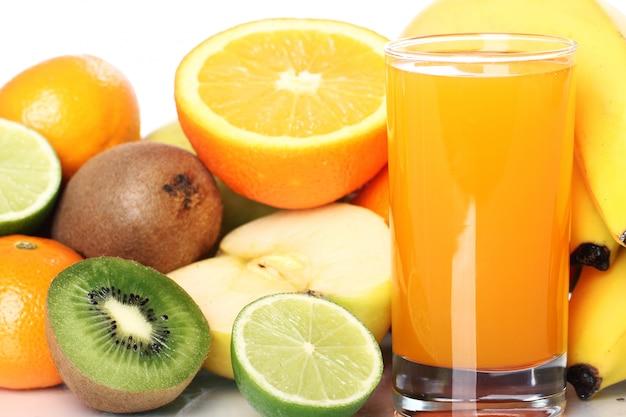 Glas vers vruchtensap