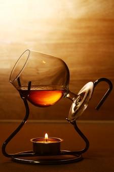 Glas warme cognac