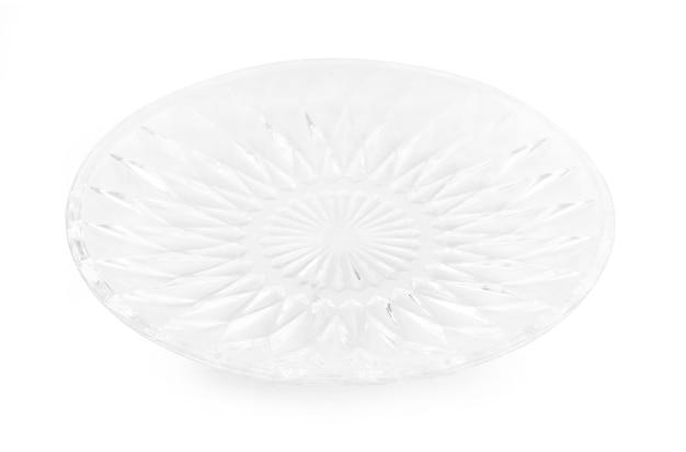 Glasplaat op wit wordt geïsoleerd dat