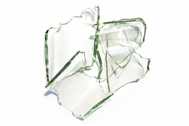 Glasscherven geïsoleerd