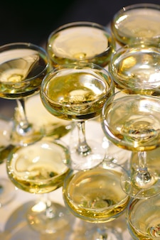 Glazen champagne