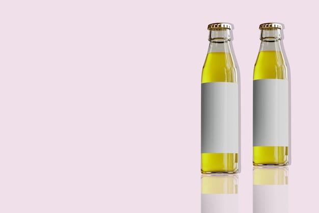 Glazen flessen voor geïsoleerde waterdranken