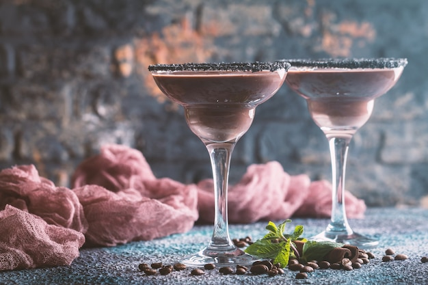 Glazen koffiecocktail