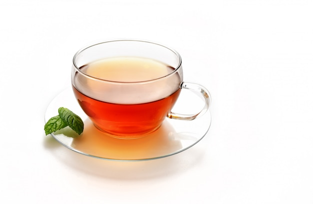 Glazen kopje thee