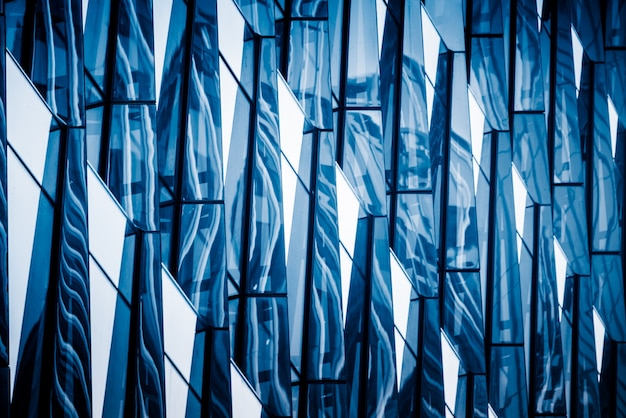Glazen muur details