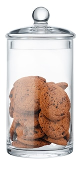 Glazen voorraadpot voor geïsoleerde koekjes