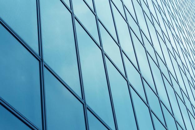 Glazen wandpatroon van modern gebouw