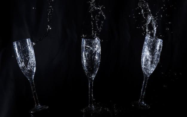 Glazen water in beweging