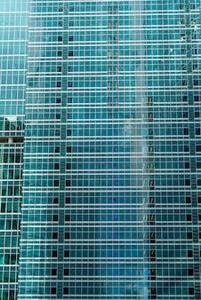 Glazen wolkenkrabbers in het stadscentrum, moderne gebouwen,