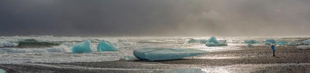 Gletsjerlagune in ijsland