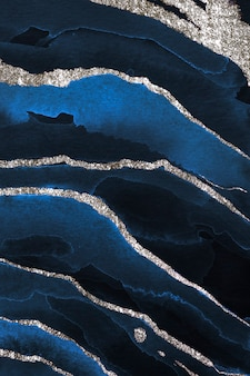 Glinsterende donkerblauwe aquarelachtergrond