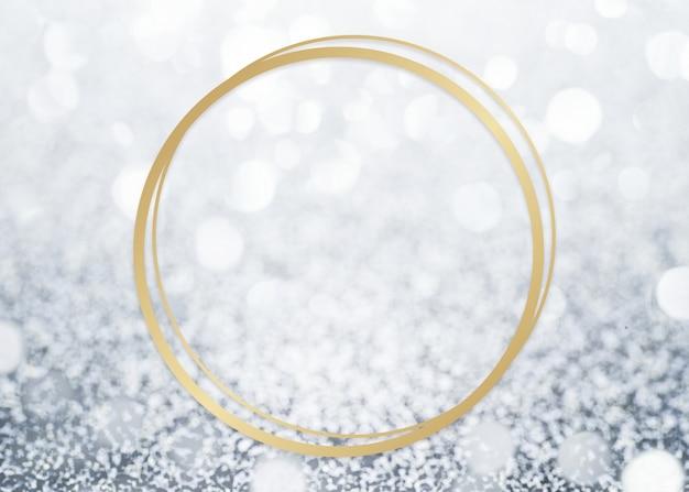 Glitter gestructureerde achtergrond frame