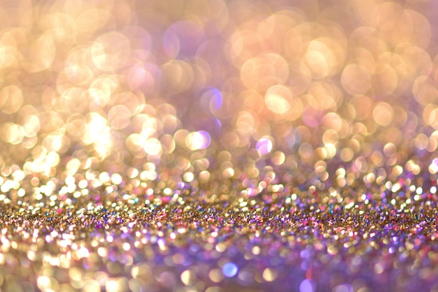 Glitter goud bokeh colorfull wazig abstracte achtergrond