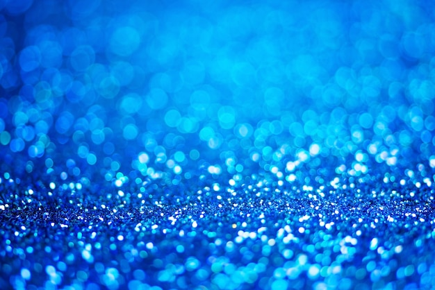 Glitter licht abstracte blauwe bokeh lichte achtergrond