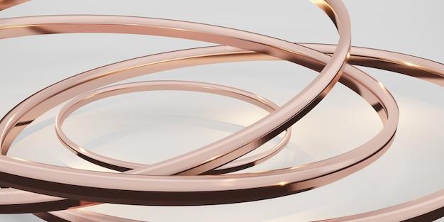 Glitter ring achtergrond abstracte witte achtergrond 3d illustratie