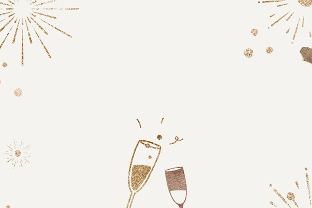 Glittery champagne achtergrond nieuwjaarsviering