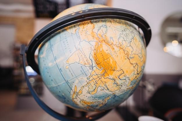 Globe bol orb model beeltenis. vintage-stijl