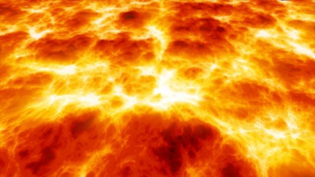 Gloeiend brandend vuur lava. de tongen van vuur. achtergrond