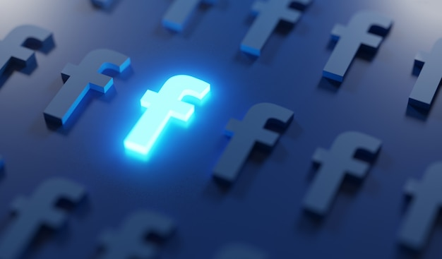 Gloeiend facebook-logopatroon