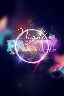 Gloeiend nachtfeest op kleurrijk