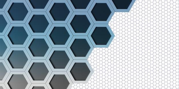 Gloeiend zeshoek zeshoekig frame abstract bokeh-effect