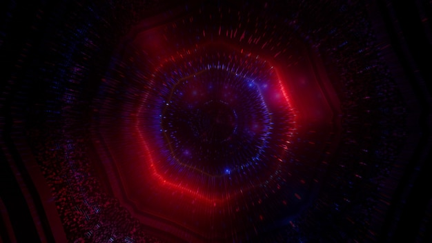 Gloeiende 4neon onderwater deeltjes bellen 3d-achtergrond