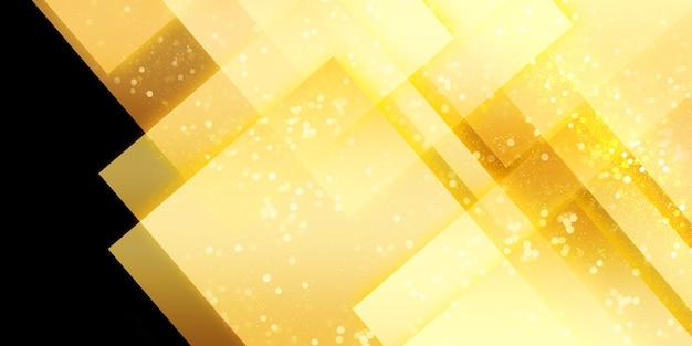 Gloeiende abstracte achtergrond vierkante frame licht paden en bokeh 3d illustratie