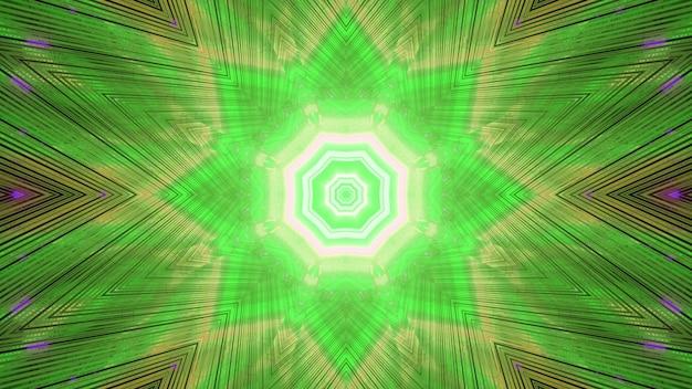 Gloeiende groene strepen van futuristische eindeloze tunnelachtergrond