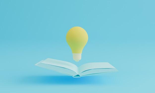 Gloeilamp boven het boek