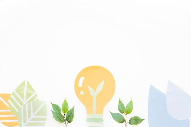 Gloeilamp en planten