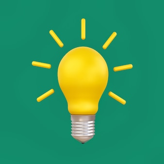 Gloeilamp idee en elektriciteitsconcept opslaan.