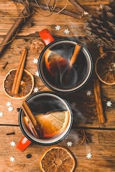 Glühwein achtergrond a hot winter christmas drink