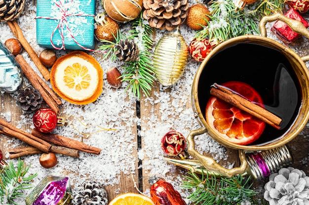 Glühwein voor kerstmis