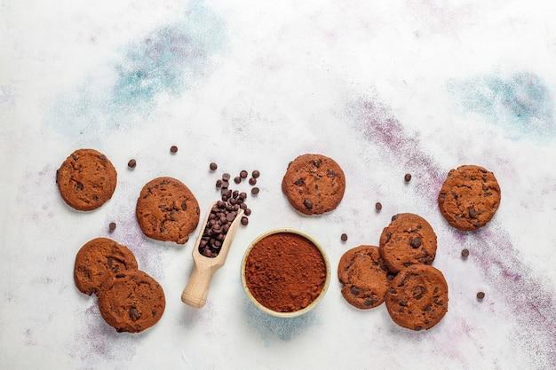 Glutenvrije koekjes met chocoladeschilfers.