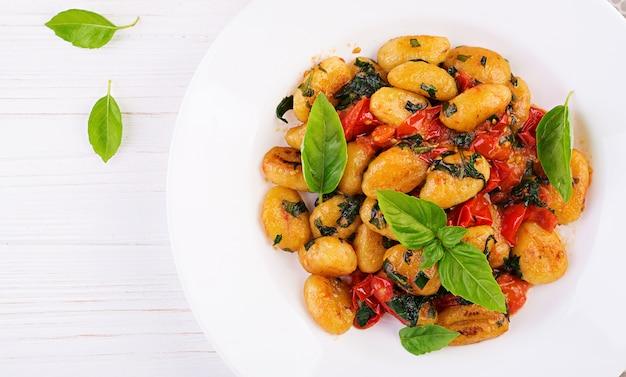 Gnocchi-pasta in rustieke stijl