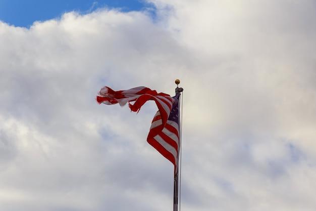God zegene amerika amerikaanse vlag wapperende amerikaanse vlag