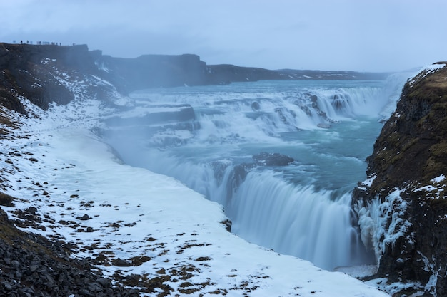 Godafoss ijsland is een van de meest spectaculaire watervallen van ijsland.