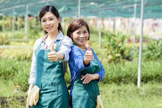 Goed werk in de tuinbouw