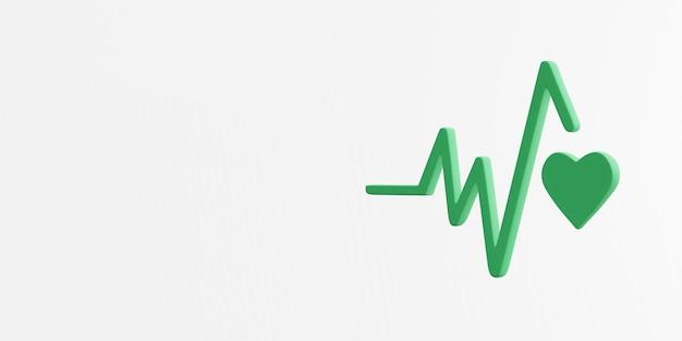 Goede gezondheid en welzijn pictogram 3d-rendering